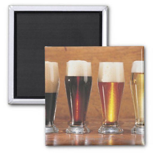 Assorted beers and ales magnets