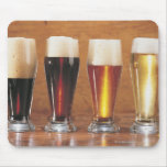 Assorted beers and ales mouse pad
