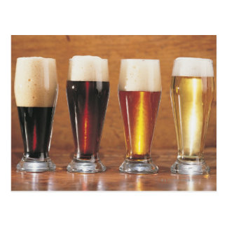 Assorted beers and ales postcard