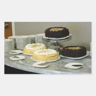 Assorted Cakes Rectangular Stickers