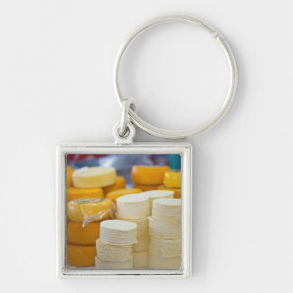 Assorted cheeses key ring