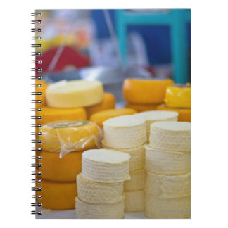 Assorted cheeses notebook