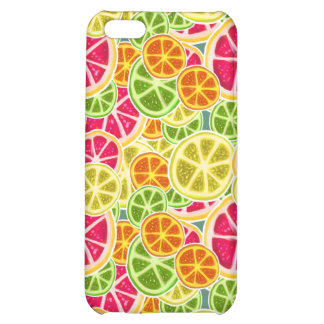 Assorted Citrus Fruit Slices Pattern Cover For iPhone 5C