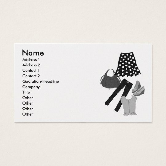 Assorted Clothing Apparel Business Card