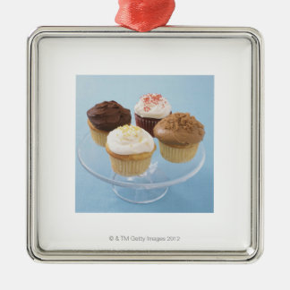 Assorted cupcakes 2 Silver-Colored square decoration