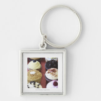 Assorted cupcakes key ring