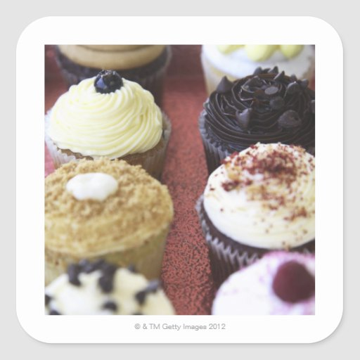 Assorted cupcakes sticker