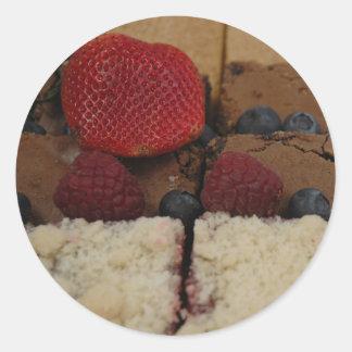 Assorted Desserts Round Sticker
