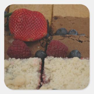 Assorted Desserts Square Stickers