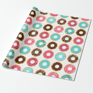 Assorted Donuts Pattern Wrapping Paper