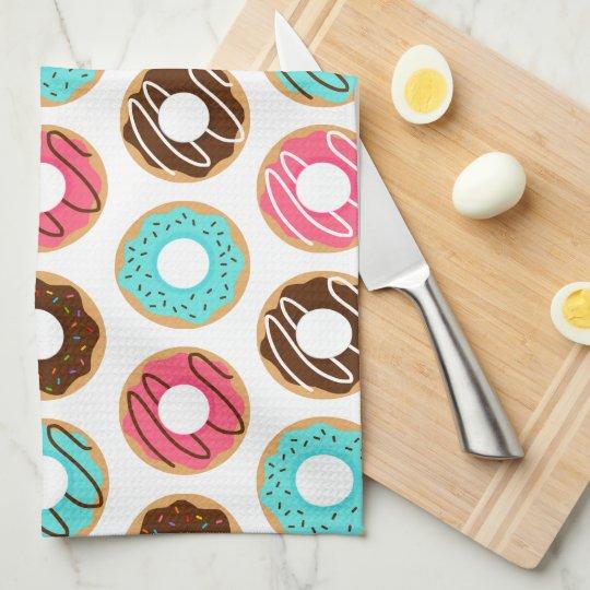 Assorted Doughnuts Pattern Tea Towel