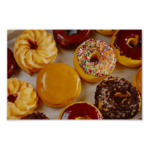 Assorted doughnuts poster