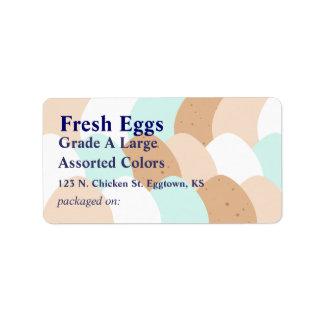 Assorted Egg Label Address Label