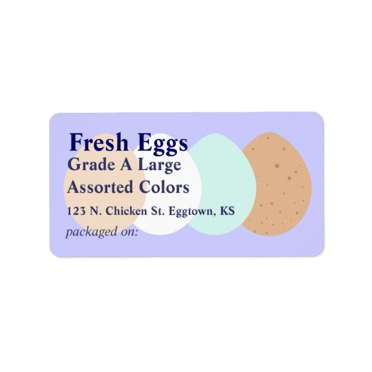 Assorted Egg Label Address Label