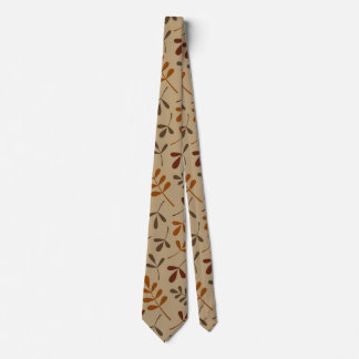 Assorted Fall Leaves Big Pattern Tie