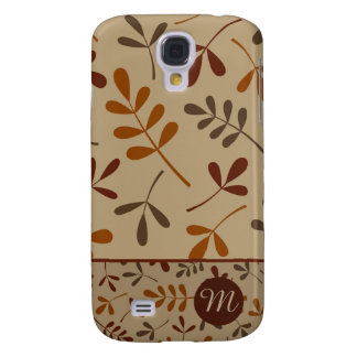 Assorted Fall Leaves Design II (Personalized) Galaxy S4 Case