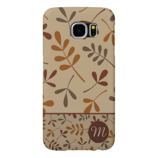Assorted Fall Leaves Design II (Personalized) Samsung Galaxy S6 Cases