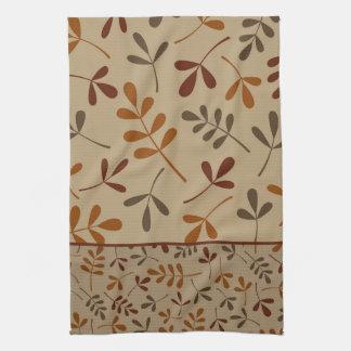 Assorted Fall Leaves Design II Tea Towel