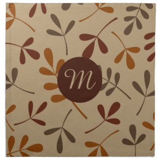 Assorted Fall Leaves Design (Personalized) Napkin