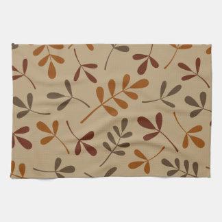 Assorted Fall Leaves Design Tea Towel