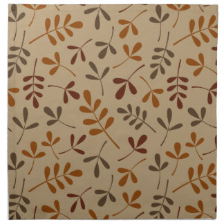 Assorted Fall Leaves Pattern Napkin