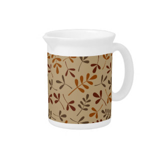 Assorted Fall Leaves Pattern Pitcher