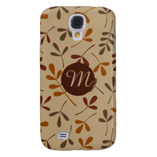 Assorted Fall Leaves Ptn (Personalised) Galaxy S4 Case