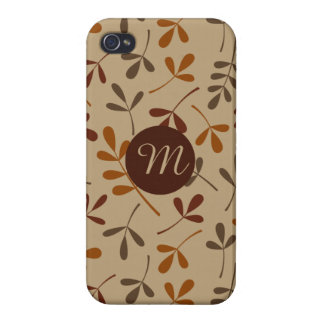 Assorted Fall Leaves Ptn (Personalized) Case For iPhone 4