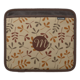 Assorted Fall Leaves Ptn (Personalized) iPad Sleeve