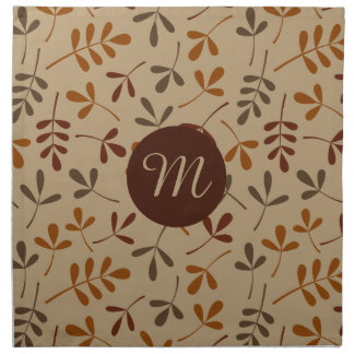 Assorted Fall Leaves Ptn (Personalized) Napkin