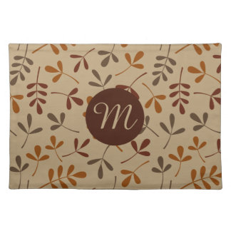 Assorted Fall Leaves Ptn (Personalized) Placemat