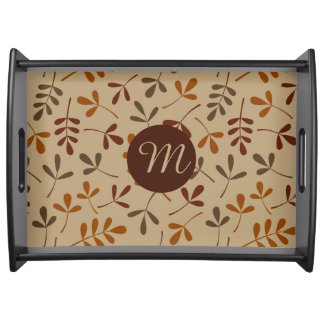 Assorted Fall Leaves Ptn (Personalized) Serving Tray
