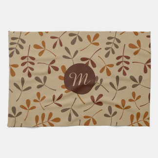 Assorted Fall Leaves Ptn (Personalized) Tea Towel