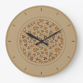 Assorted Fall Leaves Ptn & Surround Large Clock