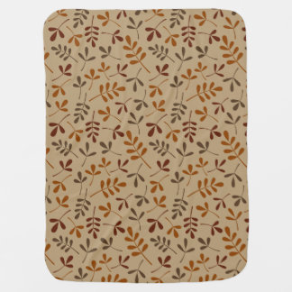 Assorted Fall Leaves Repeat Pattern Baby Blanket