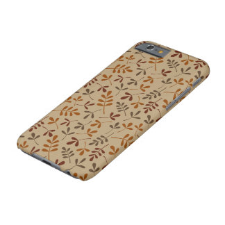 Assorted Fall Leaves Repeat Pattern Barely There iPhone 6 Case