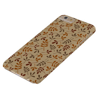 Assorted Fall Leaves Repeat Pattern Barely There iPhone 6 Plus Case
