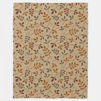 Assorted Fall Leaves Repeat Pattern Fleece Blanket