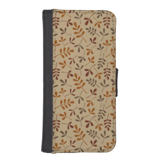 Assorted Fall Leaves Repeat Pattern iPhone SE/5/5s Wallet Case