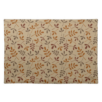 Assorted Fall Leaves Repeat Pattern Placemat