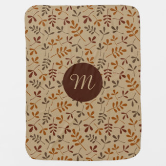 Assorted Fall Leaves Rpt Ptn (Personalized) Baby Blanket