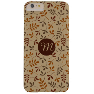 Assorted Fall Leaves Rpt Ptn (Personalized) Barely There iPhone 6 Plus Case