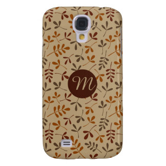 Assorted Fall Leaves Rpt Ptn (Personalized) Galaxy S4 Case