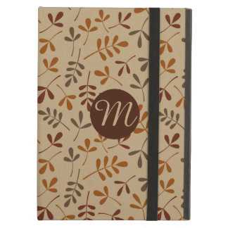 Assorted Fall Leaves Rpt Ptn (Personalized) iPad Air Cover