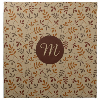 Assorted Fall Leaves Rpt Ptn (Personalized) Napkin
