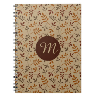Assorted Fall Leaves Rpt Ptn (Personalized) Spiral Notebook