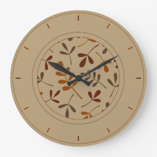 Assorted Fall Leaves & Surround Large Clock