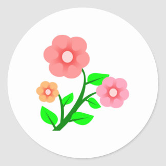 Assorted Flowers Stickers