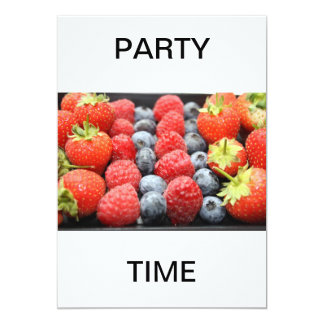 """Assorted Fresh Fruit  PARTY TIME Invitation 5"""" X 7"""" Invitation Card"""