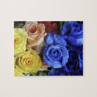 Assorted fresh rose bouquets jigsaw puzzle